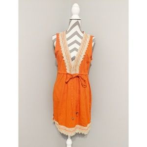 Mud Pie Orange Sleeveless Marcia Cover-Up